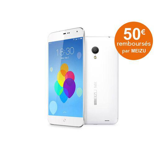 Smartphone Meizu MX3 64 Go - Blanc (avec ODR 50€)