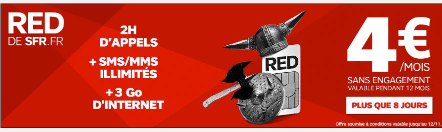 Journées Guerrières 2 : Forfait sans engagement 5Go + appels illimités à 10€ ou 3Go + 2H