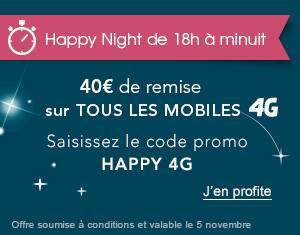 40€ de remise sur un renouvellement mobile 4G