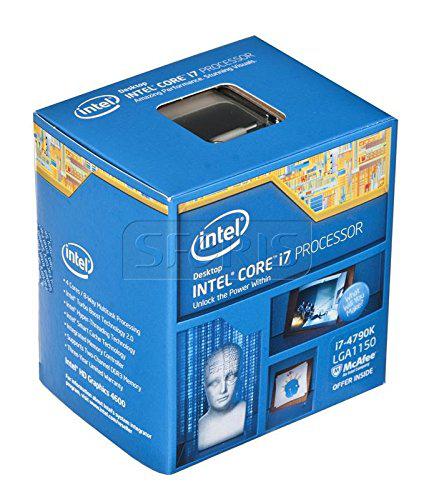 Processeur  Intel core i7 4790k 4 coeurs 4,4 GHz Socket LGA1150 Version Boîte