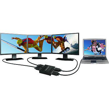 Solution multi-écrans pour PC portable - Matrox TripleHead2Go DisplayPort Edition + Adaptateur