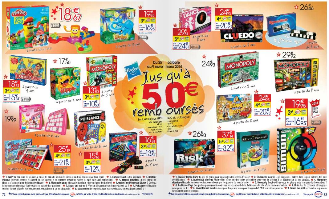 Jeux Hasbro gratuits (ODR), si carte Malin 3 à 5€ remboursés par jeu