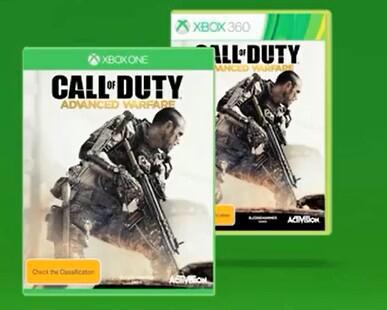 Call of Duty Advanced Warfare Xbox One gratuit pour l'achat de Call of Duty Advanced Warfare Xbox 360