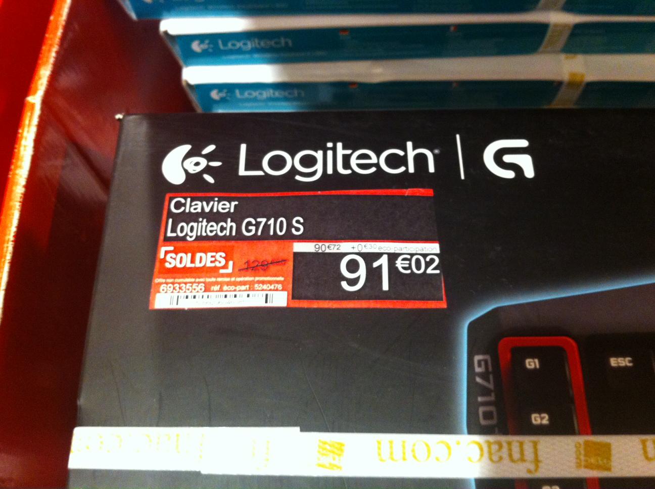 Clavier mécanique Logitech G710 S