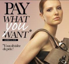 Payez ce que vous voulez sur un millier d'articles