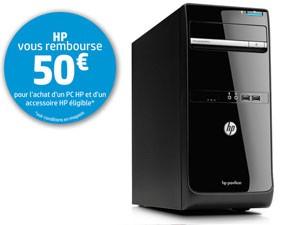 PC de bureau HP Pavilion p6-2121 ef  i3-2120 8Go de RAM 1To Radeon HD 7450 + souris HP Avec code promo et ODR (50€)