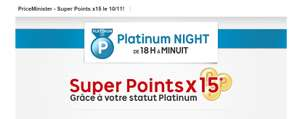 Bonus super points X15 à partir de 18h