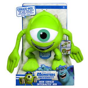 Peluche interactive Disney Monstres Academy Bob - 30 cm