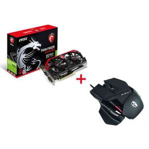 Carte Graphique MSI GeForce GTX 750 Ti Twin Frozr Gaming 2GB + Souris Gamer Madcatz Cyborg R.A.T. 3