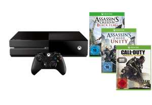 Console Microsoft Xbox One 500Go + CoD: Advanced Warfare + AC: Unity + AC: Black Flag