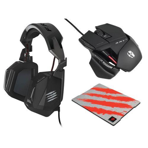 Pack gamer Cyborg R.A.T. 3 +  casque Avex micro F.R.E.Q.3 + tapis de souris G.L.I.D.E.3