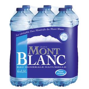 Packs d'eau minérale Mont Blanc 12x1,5 L (avec 50% crédité sur la carte)