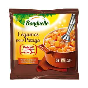 Légumes pour potage surgelés Bonduelle (750g) (50% sur la carte + bon de réduction)
