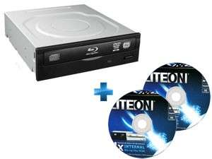 Lecteur/Graveur de blu-ray interne LITE-ON IHBS112-115 + 2 DVD Blu-Ray Vierge (25Go)