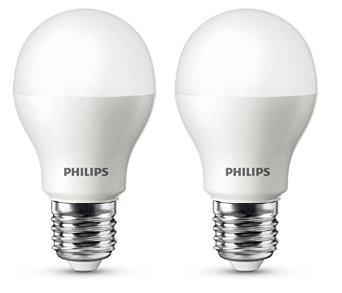 2 Ampoules LED Philips Standard E27 9.5W 806 Lumen (équivalence 60W)