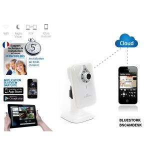 Camera IP Wi-FI Bluestork BSCamDesk avec vision nocturne et micro (+ 20€ en bon d'achat)