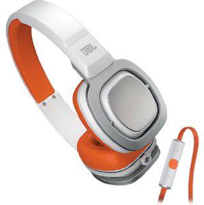 Casque hifi JBL J55I blanc/orange avec Télécommande et microphone