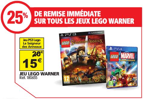 -25% remise immédiate sur TOUS les jeux LEGO Warner (cumulable avec bons de 10€ voir détails) - Ex: Le Seigneur des Anneaux