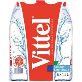 2 packs d'eau Vittel de 6x1.5L (avec 100% sur la carte de fidélité sur le 2nd pack)
