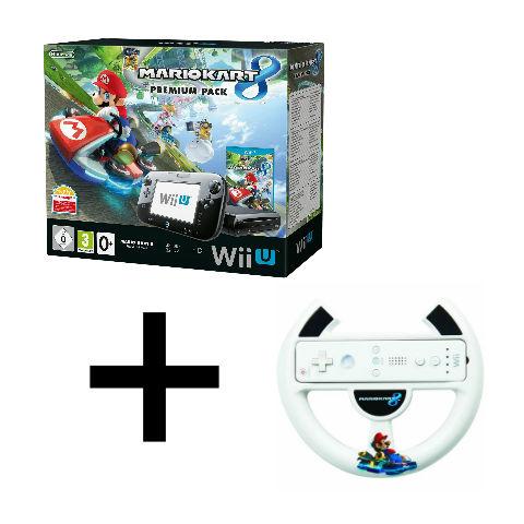 Pack Console Wii U Mario Kart 8 + Volant Wii U