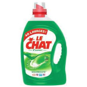 bidon de lessive 40 lavages Le Chat Expert ou Sensitive
