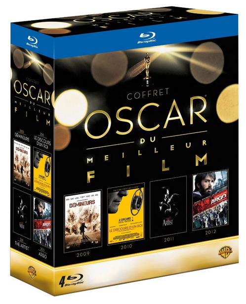 Coffret 4 Blu-ray : Oscar du meilleur film - Démineurs + Le discours d'un roi + The Artist + Argo