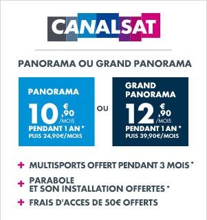 Abonnement 1 an  à CanalSat Panorama au tarif mensuel de