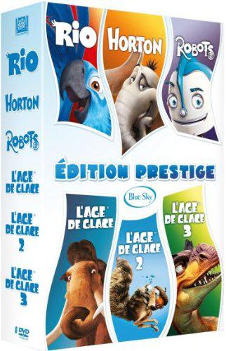 Coffret 6 films DVD : Age de glace 1 + 2 + 3, Rio , Horton, Robots - Edition Prestige