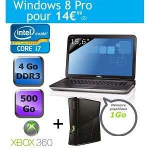 PC portable Dell XPS L502x i7-2670QM, 4Go de ram + xbox 360 4 go