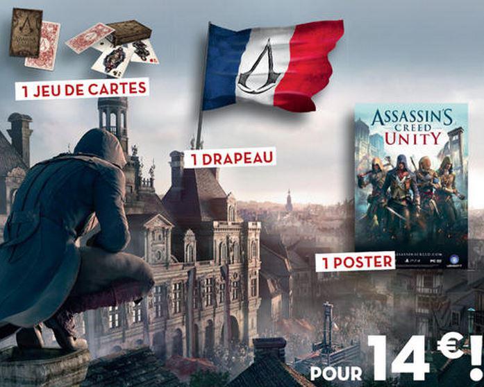 12 numéros de Carrefour Savoirs + Lot goodies Assassin's creed unity (Drapeau 75X135 + jeu de 55 cartes + poster 60X84)