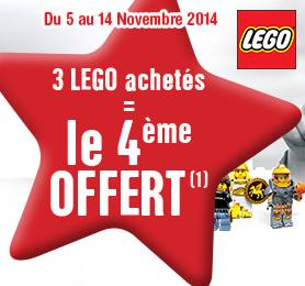 3 Produits Lego achetés = le 4ème offert