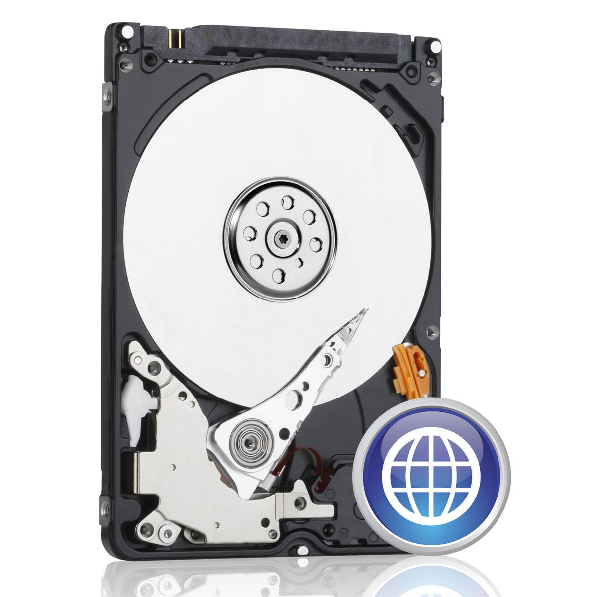 """Disque dur interne 2.5"""" Western Digital Blue 750 Go SATA 6 Gb/s - 7mm"""