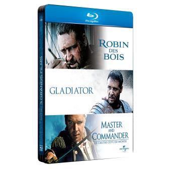 Coffret Steelbook 3 Blu-ray  - Robin des Bois - Gladiator - Master and Commander, de l'autre côté du Monde