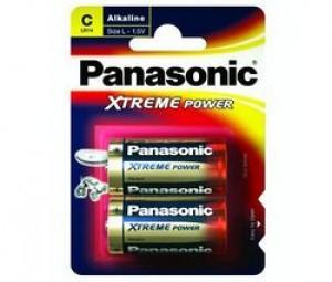 2 piles LR14 (C) Panasonic Alcaline (emballage abîmé)