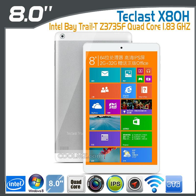 "Tablette 8"" Teclast X80H - Windows 8.1, 2Go RAM"