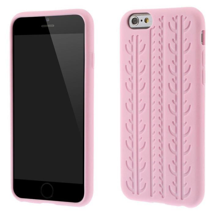 Coque iPhone 6 en silicone - Rose
