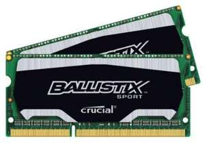 Memoire Crucial Ballistix Sport - DDR3L - 16 Go : 2 x 8 Go - SO DIMM 204 broches - 1600 MHz /PC3-12800 - CL9