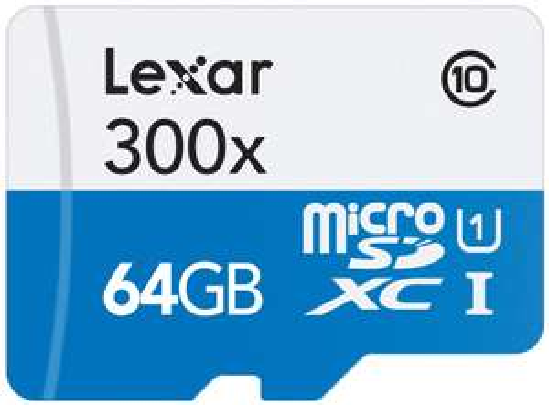 Carte Mémoire Micro SDXC Lexar Classe 10 64 Go + Adaptateur SD