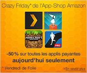 Crazy Friday sur l'App-Shop : Retrouvez toutes les applis payantes à -50%