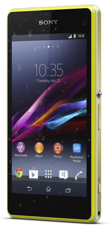"Smartphone étanche 4.3"" Sony Xperia Z1 Compact Jaune"