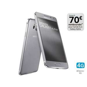 Smartphone Samsung Galaxy Alpha avec ODR(70€) + Bon de reduction(50€)