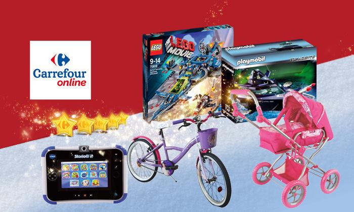 Bénéficiez de 10€ de réduction chez Carrefour online sur les catégories Jouets & Jeux / La Mode de Bébé a partir de 30€ d'achat pour 1€