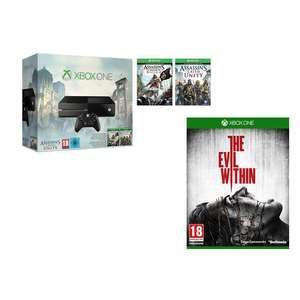 Console Xbox One + The Evil Within + Assassin's Creed Unity + Assassin's Creed Black Flag