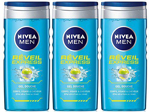 Nivea Gel Douche Réveil Express 250 ml - 3 Lots de 3 -