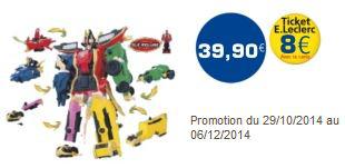 DX Megazord Légendaire (8€ sur la carte Leclerc - 10€ d'ODR)