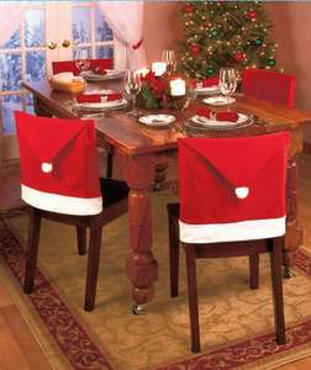 le lot de 6 Housses de Chaise Père Noel
