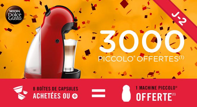 Machine à café Piccolo offerte pour 8 boites achetées