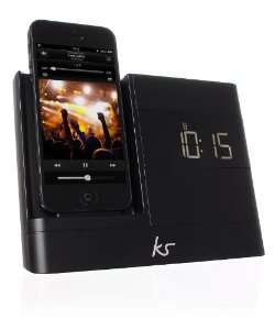 Dock radio-réveil KitSound X-Dock 2 pour IPhone 5/5S/5C/6