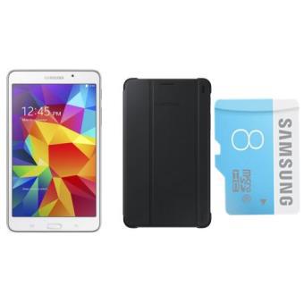 "[Adhérents] Tablette Samsung Galaxy Tab 4 7"" Blanc + Housse Samsung + Micro SD Samsung 8go"