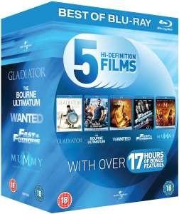 Coffret Blu-ray de 5 films d'action (Gladiator, La Vengeance dans la peau...)
